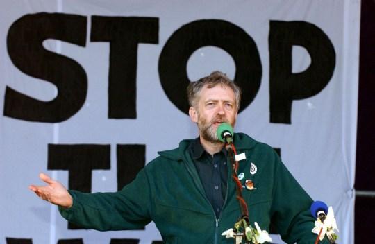 Mandatory Credit: Photo by Nigel R. Barklie/REX/Shutterstock (410361m) Jeremy Corbyn MP in Hyde Park ANTI WAR WITH IRAQ DEMONSTRATION, LONDON, BRITAIN - 22 MAR 2003