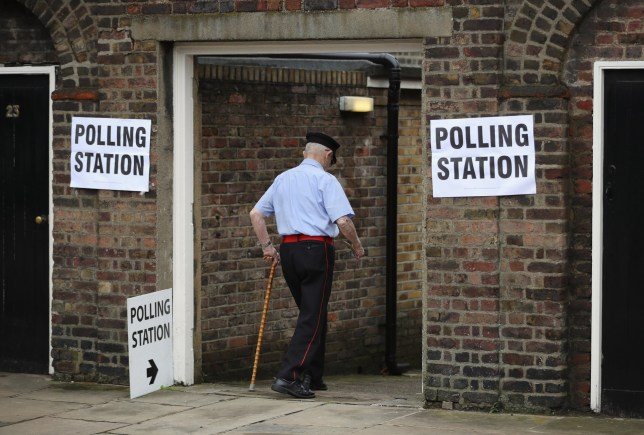 LONDON, UNITED KINGDOM - JUNE 23: An elderly member of the public arrives to cast his vote in the EU referendum at Royal Hospital Chelsea on June 23, 2016 in London, United Kingdom. The United Kingdom has gone to the polls to decide whether or not the country wishes to remain within the European Union. After a hard fought campaign from both REMAIN and LEAVE the vote is too close to call. A result on the referendum is expected on Friday morning. (Photo by Dan Kitwood/Getty Images)