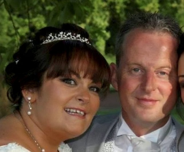 "Lisa Buckingham, pictured on her wedding day to bigamist Mitchell Sharpe. See News Team story NTICHEAT; A love rat fraudster who stole from his wife's own family while he was still married to another woman has been jailed for bigamy. Mitchell Sharpe, 44, met Lisa Buckingham on an online dating site and whisked her off on holiday to Portugal where he proposed to her in March 2014. But two days after their marriage, Lisa received a Facebook message from another woman saying: ""Good luck with that cocaine conman"", a court heard. Shockingly, Lisa then uncovered that Sharpe had a string of convictions against him, and was due in court just days after their wedding date on June 10, 2014. Lowlife Sharpe convinced her to let him stay at his address, until she trawled through paperwork in her loft - and discovered he was still married to another woman."