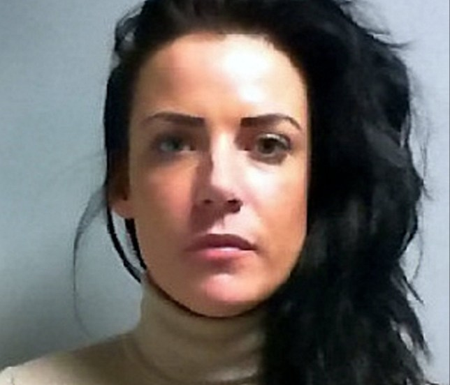 Joylene Cunningham from York, North Yorks., has been jailed for 2 and a half years for slashing her boyfriends face. See Ross Parry story RPYSLASH : A Stephanie Davis look-a-like has been caged after slashing her boyfriendís face from his mouth to his ear as she saw him kissing and cuddling another woman, a court heard. Joylene Cunningham, 30, used either a razor blade or Stanley knife to slash her boyfriend Sean Harman's face - requiring him needing 18 stitches. York Crown Court heard that a scorned Cunningham, who looks like the doppelganger of former Hollyoaks beauty Stephanie Davis, had told the court that she thought the slash was caused from a ring. But when her ring was examined - it was found the ring to blunt. 10 July 2016.