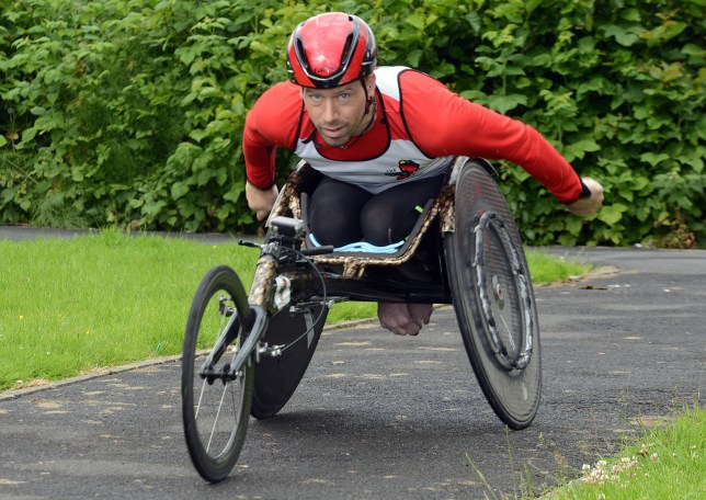 Anthony Gotts from Rossendale, Lancs., is a wheelchair athlete that travelled 900 miles from Lands End to John OíGroats in just 28 days setting a new world record. See Ross Parry story RPYWHEELCHAIR : An athlete has become the first man in history to travel from Land's End to John O'Groats - in a wheelchair. Anthony Gotts even smashed a world record on the grueling 900 mile journey - as he completed the task in just 20 days. He beat the previous record set by electric wheelchair user Martyn Sibley in 30 days. Manual wheelchair user Anthony, 32, was injured during a double decathlon event in Finland in 2007, where he suffered a broken pelvis, slipped disk and snapped leg muscles - leaving him unable to walk more than a few steps. Anthony, of Helmshore, Lancs., who had been training to do the wheelchair challenge for two years, clocked up an impressive 45-miles a day during his journey.