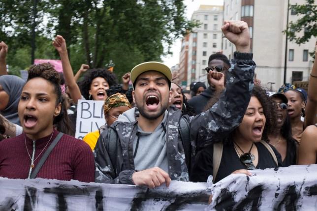NO FEE - London Black Lives Matter Protest Sunday 10th July Credit: Ben Doyle