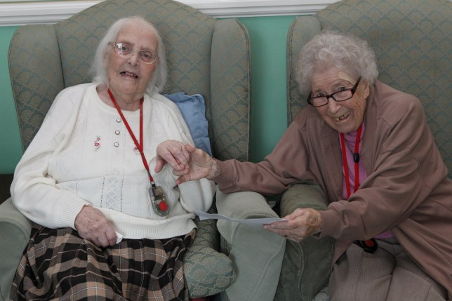Two friends who lost touch for almost 80 years have been reunited after moving into the same residential home - completely by chance.