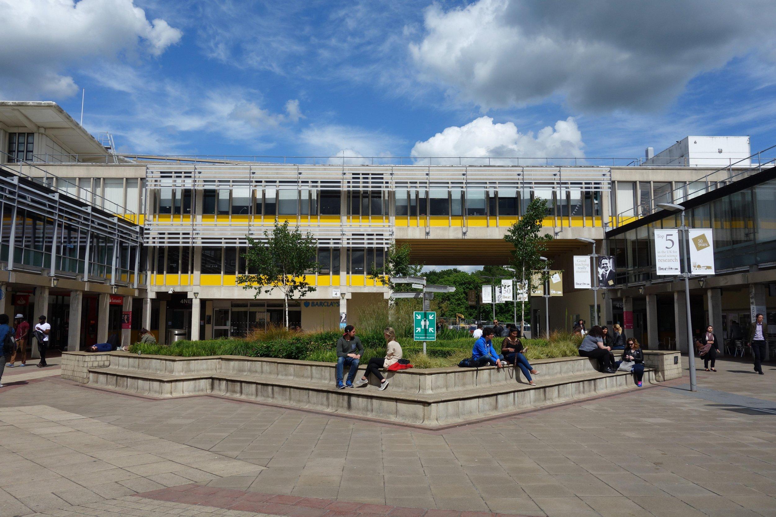 ERF09P Square 4 on University of Essex campus, Wivenhoe Park, Colchester, Essex