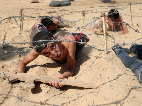 Pictures: Summer camps are a bit different on the Gaza strip