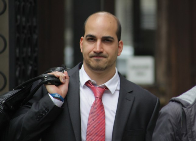 """Gil David outside Central London County Court after hearing in his case against Spearmint Rhino, July 15, 2016.....Image by Paul Keogh 07914 583 378.....NOTE: All first use in print to be considered """"live"""" for payment purposes."""