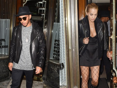 Rita Ora and Lewis Hamilton spent the night together at her place after his Silverstone win