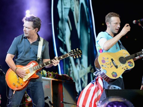 Michael J Fox joined Coldplay onstage to recreate THAT classic Back To The Future scene…