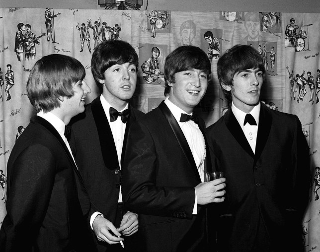 """Mandatory Credit: Photo by HARRY MYERS/REX/Shutterstock (330182i) THE BEATLES AT THE PREMIERE OF """"A HARD DAY'S NIGHT"""". THE PREMIERE OF THE BEATLES FILM 'HARD DAYS NIGHT', LONDON, BRITAIN - 06 JUL 1964"""