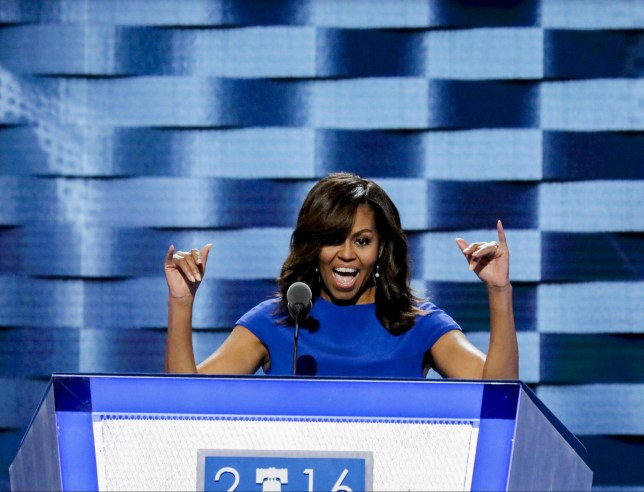 Mandatory Credit: Photo by Mark Reinstein/ZUMA Wire/REX/Shutterstock (5783456k) Michelle Obama Democratic National Convention, Philadelphia, USA - 25 Jul 2016
