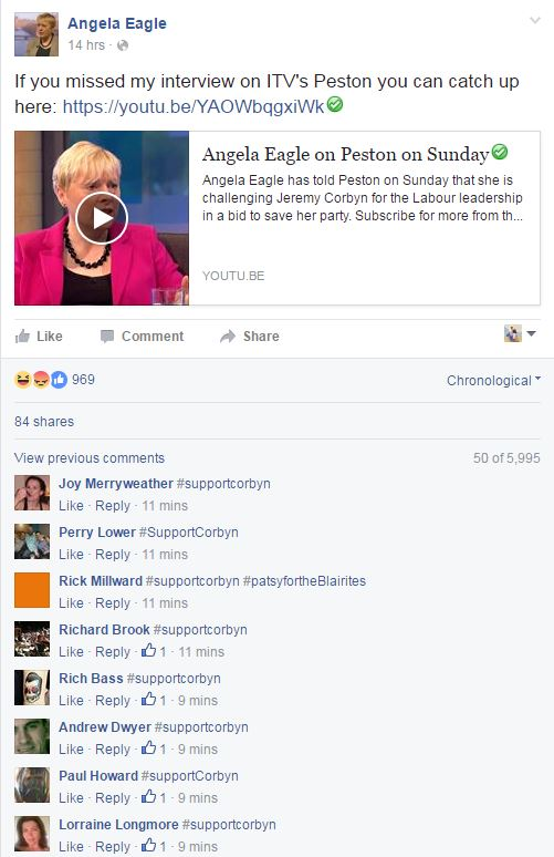 Angela Eagle hijacked