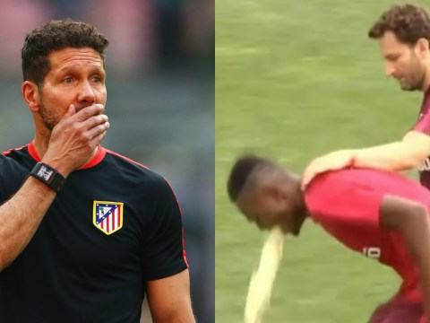 Atletico Madrid player THROWS UP after gruelling first training session under Diego Simeone