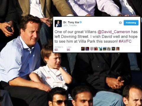 Aston Villa owner Dr Tony Xia puts his foot in it by calling David Cameron a 'great Villan'