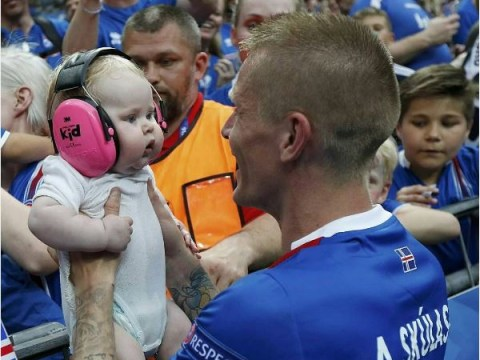 People are falling in love with this baby Euro 2016 fan