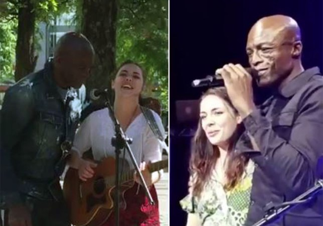 Seal asks Piccadilly Gardens busker to open Manchester show Seal ‏@Seal Today I took @poppyws from the streets of Manchester 2open up for me @ my gig #streetsongs #whosnext credit: Seal
