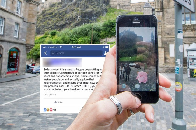 Facebook post about Pokemon Go not being 'lame' is pretty