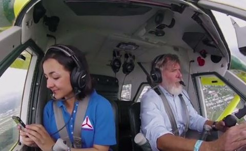 WATCH: Harrison Ford takes 16-year-old on a flight in his plane and we're crazy jealous