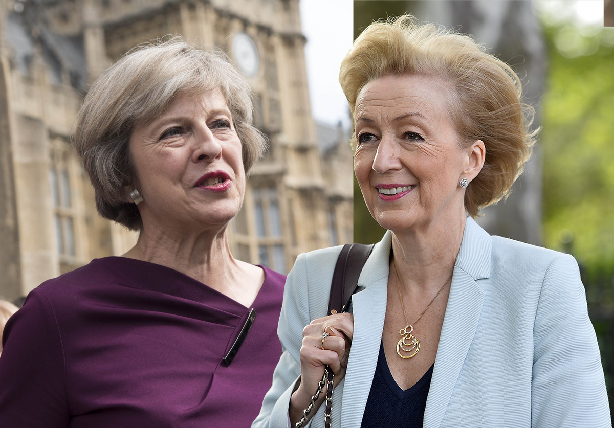 Leadsom denies saying she'd make a better leader than Theresa May because she's a mum