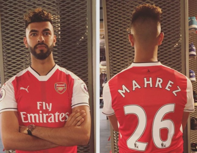 f7f8ef703 This Arsenal fan is very confident they re signing Riyad Mahrez (Picture   Twitter)