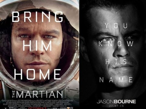 We asked Matt Damon why all his movie posters look the same