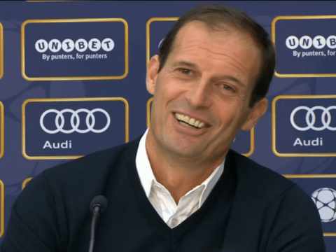 Max Allegri bursts into laughter when asked about Paul Pogba's world-record price tag