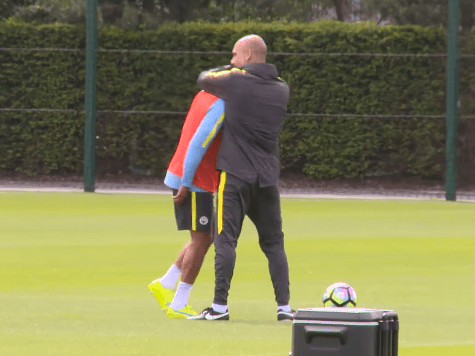 Behind the scenes on Guardiola's first day of Man City training… but who gets a special Pep hug?