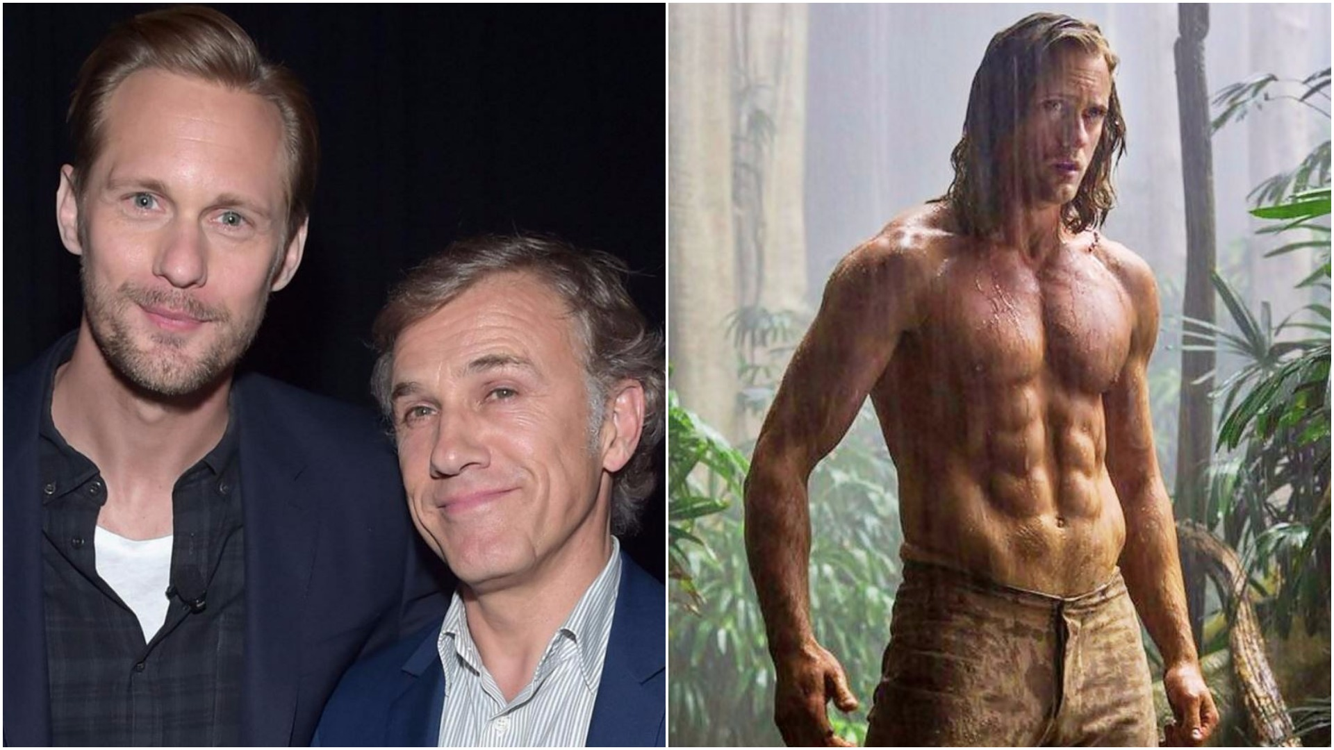 A gay kiss between Alexander Skarsgard and Christoph Waltz was cut from The Legend Of Tarzan