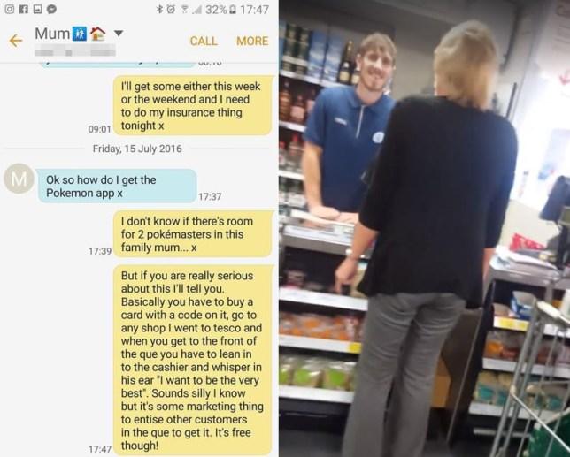 Facebook user Nathan Wall pranked his poor mum by sending