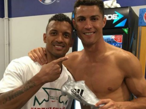Cristiano Ronaldo gives fellow ex-Manchester United star Nani Euro 2016 Silver Boot