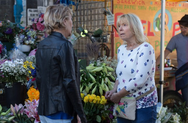 WARNING: Embargoed for publication until 00:00:01 on 12/07/2016 - Programme Name: EastEnders - July - September 2016 - TX: 19/07/2016 - Episode: EastEnders July - September  2016 - 5318 (No. n/a) - Picture Shows: +HOLD BACK FOR COMS+ Shirley tries her best to tell Pam about Paul but Pam refuses to believe it.  Shirley Carter (LINDA HENRY), Pam Coker (LIN BLAKLEY) - (C) BBC - Photographer: Jack Barnes