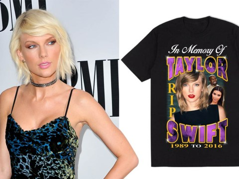 Someone's selling 'RIP Taylor Swift t-shirts proving this has gone way too far
