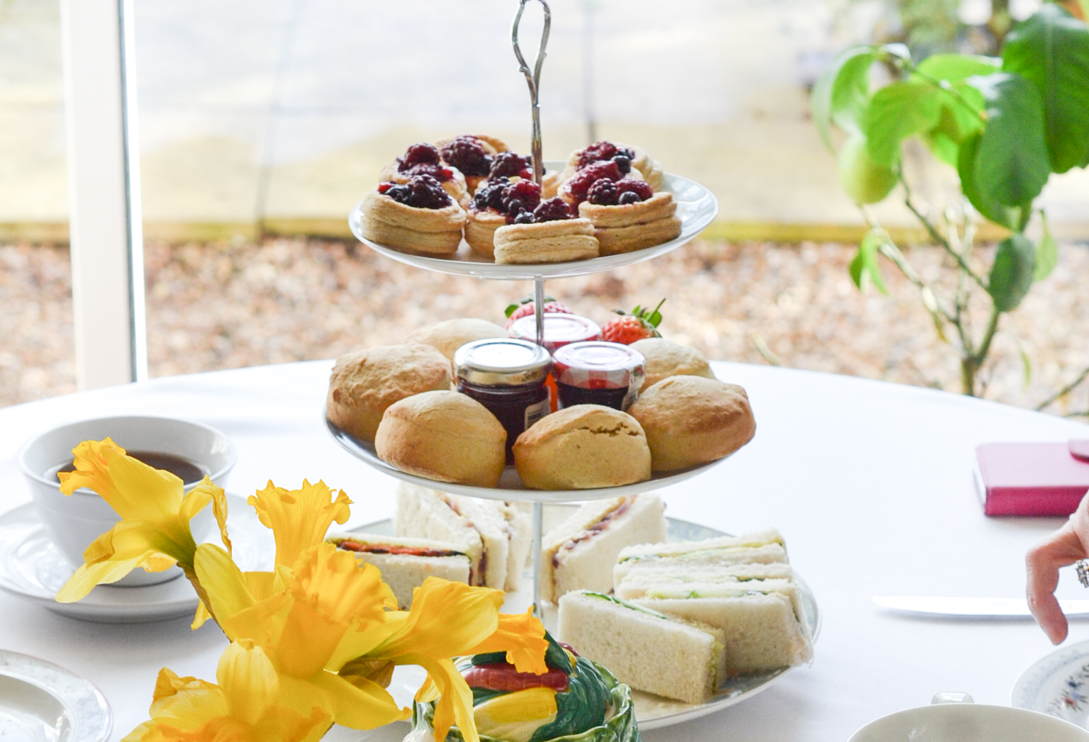 Afternoon tea doesn't have to be all about clotted cream and egg mayonnaise... (Picture: Wallflower Bakery)