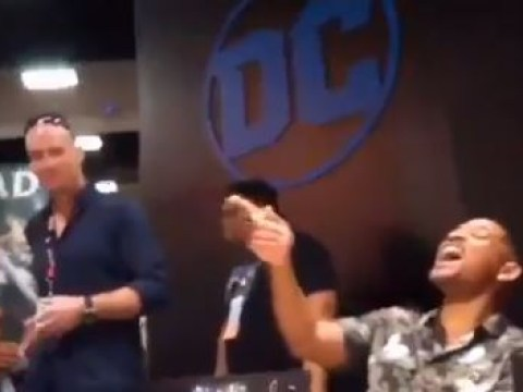San Diego Comic-Con: Watch a masked Henry Cavill get a fan photo with Will Smith