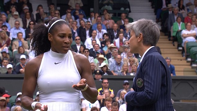 Williams was not happy (Picture: BBC)