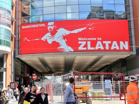 Zlatan Ibrahimovic trolls Manchester City with 'Welcome to Zlatan' banner