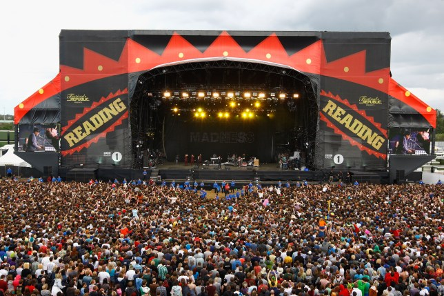 READING, ENGLAND - AUGUST 27: A general view of the main stage as Madness perform live on the Main Stage during day two of Reading Festival 2011 on August 27, 2011 in Reading, England. (Photo by Simone Joyner/Getty Images)