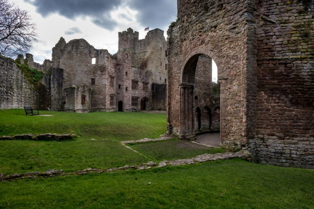 The creepy sight of Ludlow Castle in Shropshire (Picture: Getty)
