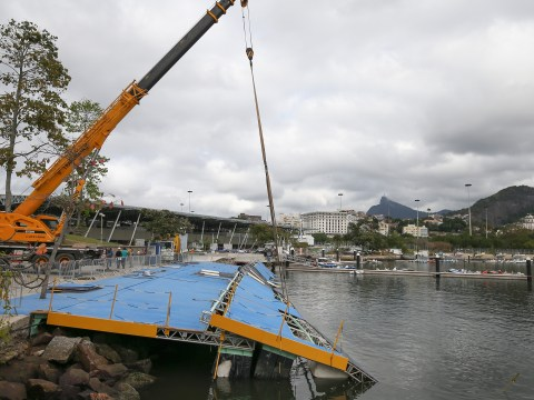 Sailing ramp collapses as concerns over Rio Olympics intensify