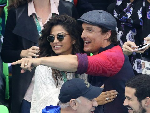 This gif of Matthew McConaughey watching the US basketball team is alright, alright, alright