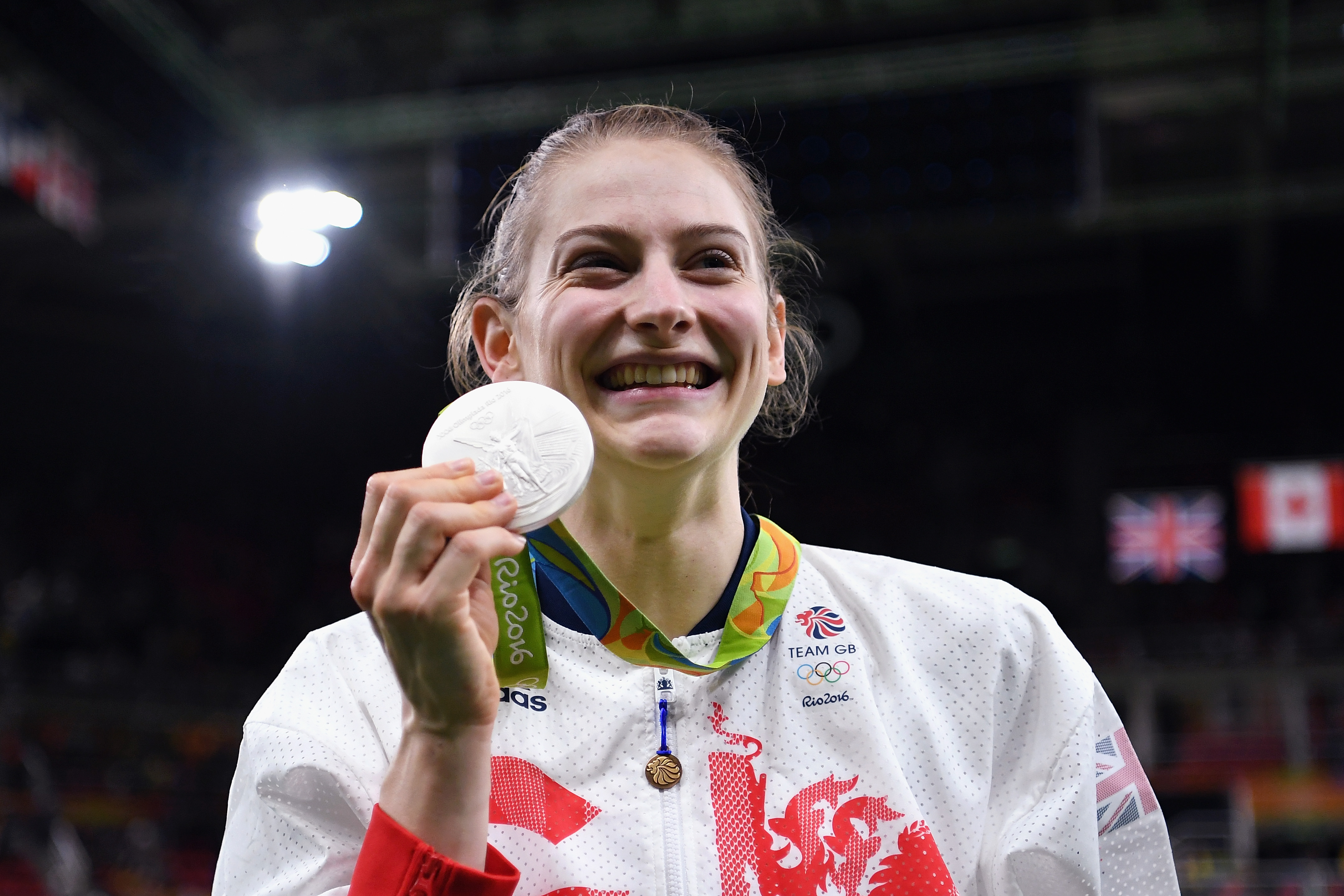 Bryony Page wins second silver medal for Team GB in matter of minutes at the Olympics in Rio