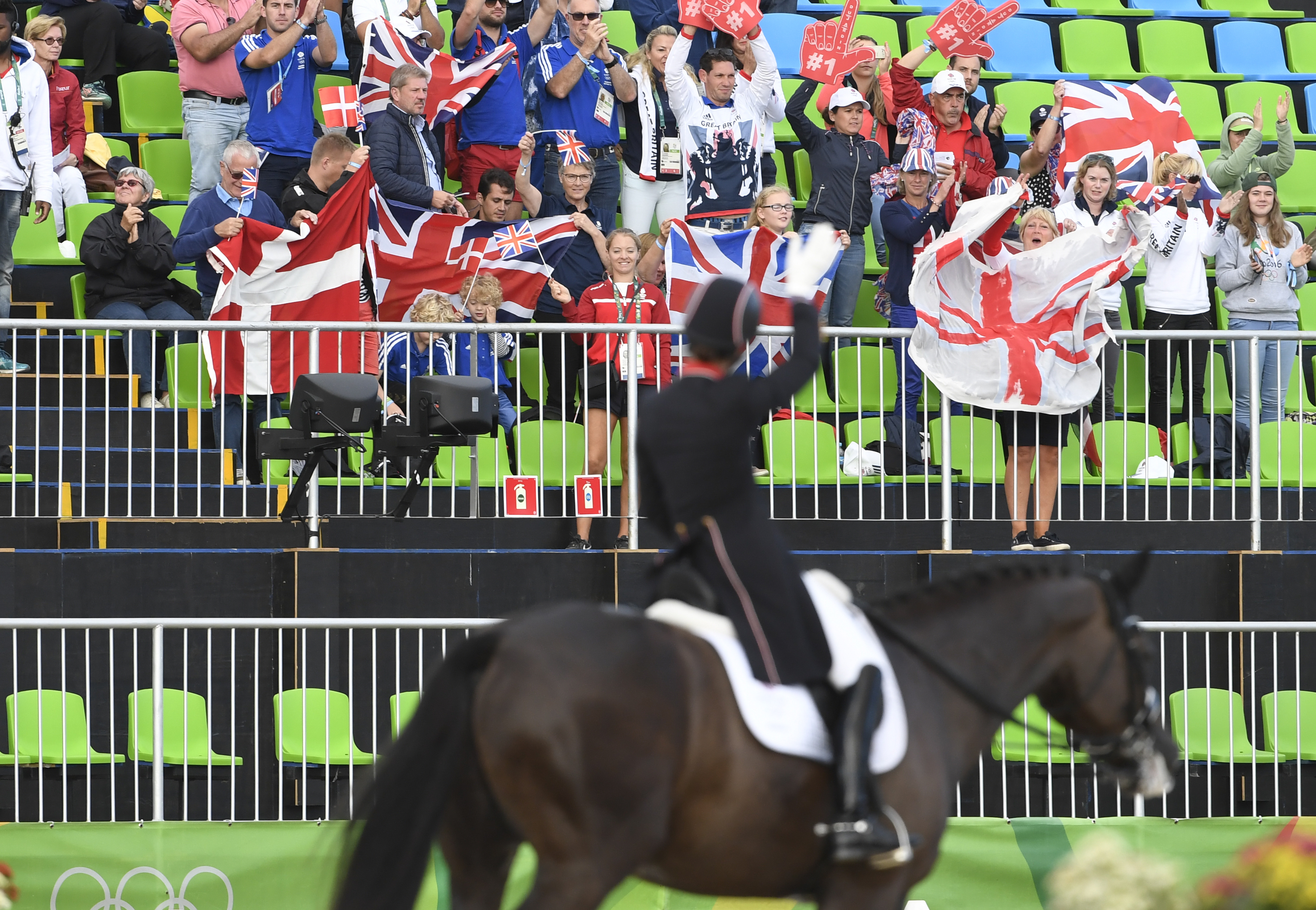 Team GB take silver in the team dressage but beaten to gold by Germany in Rio