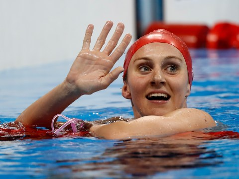 Jazz Carlin takes silver in the 800m freestyle as Katie Ledecky destroys world record