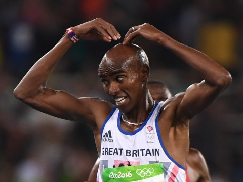 Mo Farah wins third Olympic gold medal with defence of 10,000m title