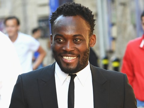 Michael Essien training with Chelsea again after being released by Panathinaikos