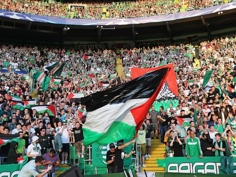 Celtic fans raise more than £100,000 for Palestinian charities in protest against UEFA's flag fine
