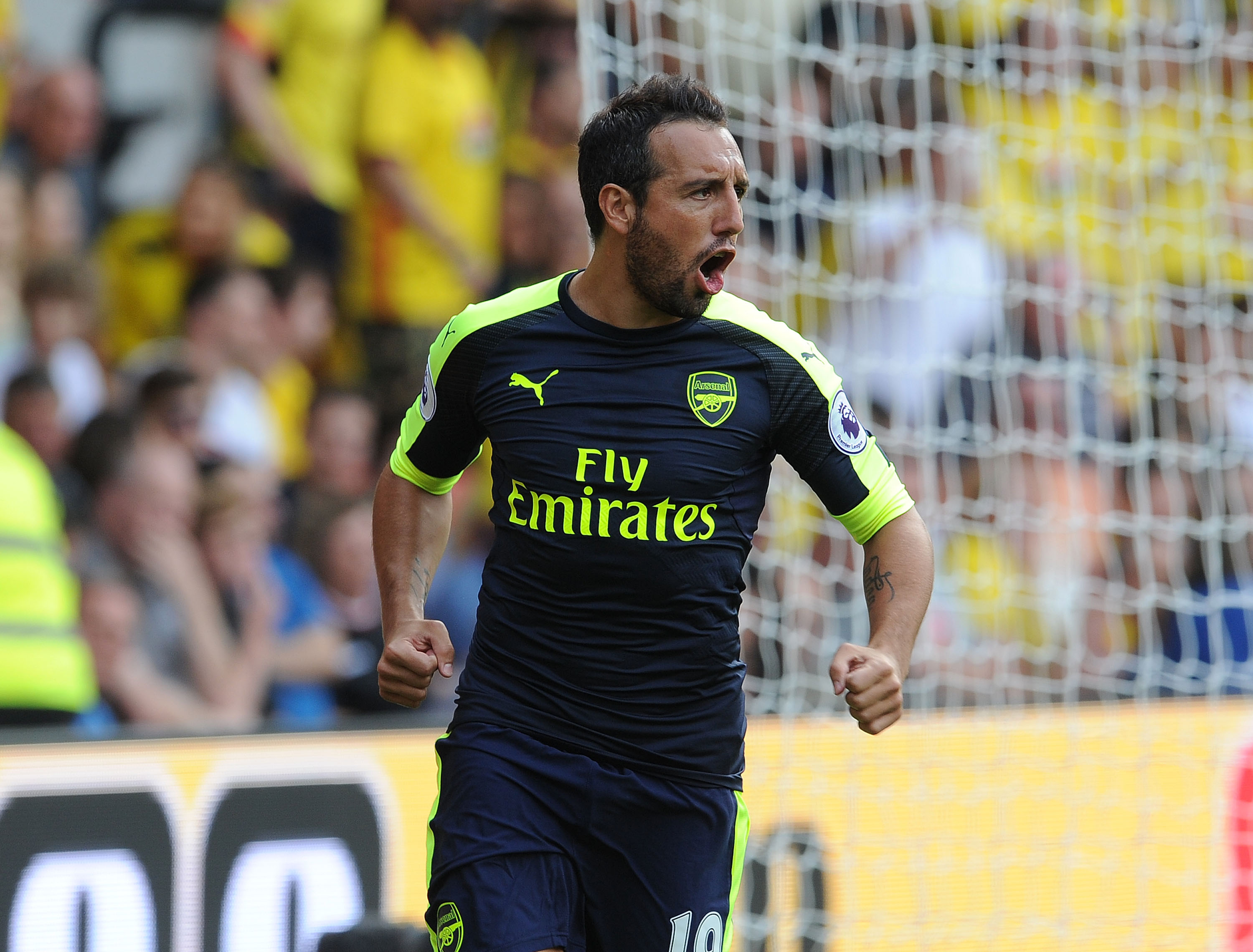 Santi Cazorla shows his unbelievable corner tekkers in Arsenal's 3-1 win over Watford