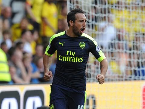 Santi Cazorla shows his unbelievable corner tekkers in Arsenal's 3-1 win over Watford