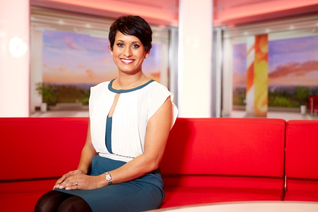 Programme Name: BBC Breakfast - TX: n/a - Episode: n/a (No. n/a) - Picture Shows: BBC Breakfast Presenter Naga Munchetty - (C) BBC - Photographer: Scott Kershaw