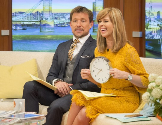 EDITORIAL USE ONLY. NO MERCHANDISING Mandatory Credit: Photo by S Meddle/ITV/REX/Shutterstock (5822309ae) Ben Shephard and Kate Garraway 'Good Morning Britain' TV show, London, UK - 05 Aug 2016
