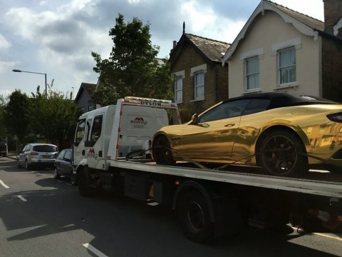 Learner driver has gold-plated Maserati towed in insurance fail
